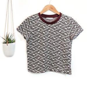 • zara • geometric crop top